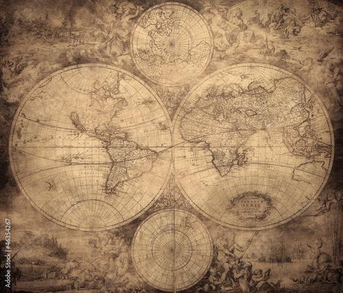 vintage-mapa-swiata-okolo-1675-1710