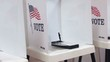 Empty voting booths