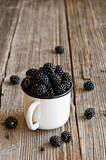 Blackberries on a mug