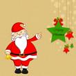 Santa with Christmas Decoration