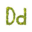 Eco Font Letter D
