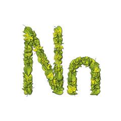 Eco Font Letter N