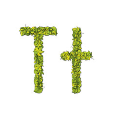 Eco Font Letter T