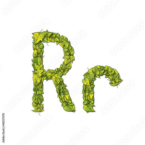 Eco Font Letter R