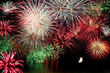 Feuerwerk mit Halbmond