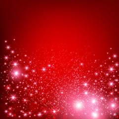 Elegant Christmas Red background with snowflakes and place for t