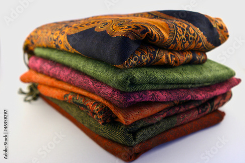 Stack of Pashminas
