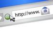 Browser mail concept illustration design
