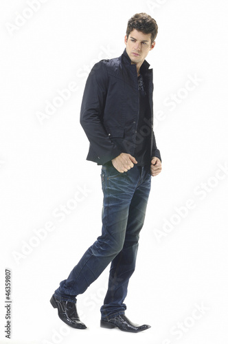 Portrait of handsome young man in casual standing
