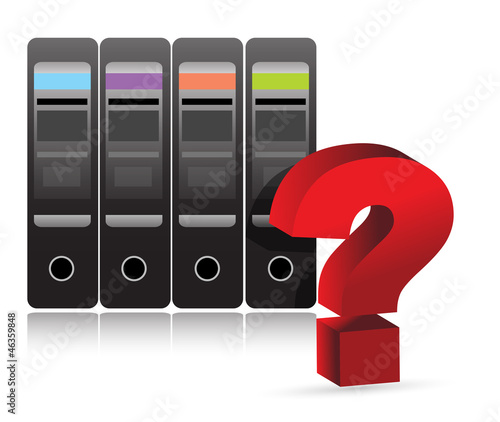 server question mark illustration