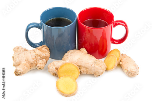 ginger root and ginger tea