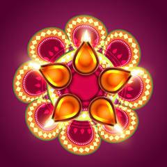 creative happy diwali background