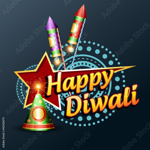 happy diwali illustration