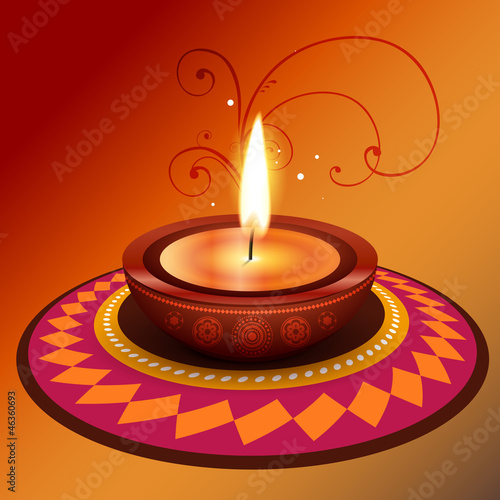 vector diwali design