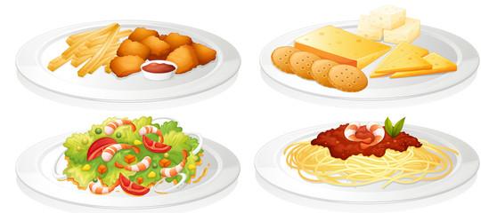 a various foods