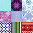 Set seamless christmas patterns