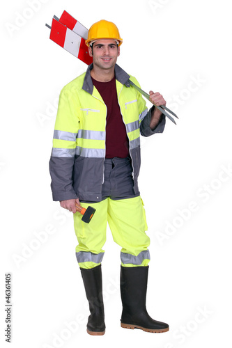 Road-side worker