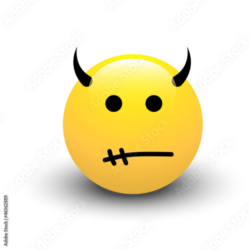 Devil Smiley Vector