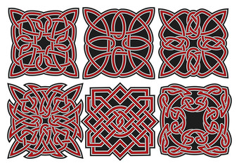Set of vector celtic design elements