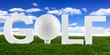 golf font logo I