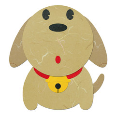 Rice paper cut cute cartoon dog