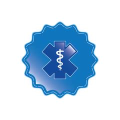 Blue medical symbol .