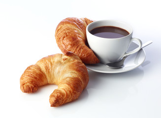 Kaffee mit Croissants
