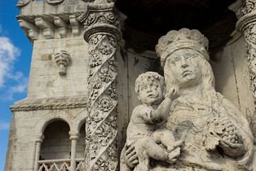 Madonna con bambino-Torre di Belem