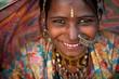 Leinwanddruck Bild - Portrait of a India Rajasthani woman