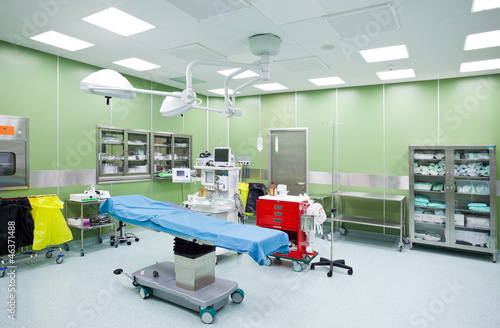 Empty operation room surgery