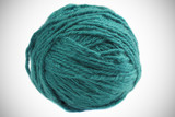 Ball of cadet  blue yarn