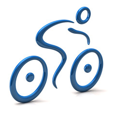 3d illustration of abstract cyclist