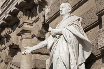Rome - statue of Cicero from facade of Palazzo di Giustizia