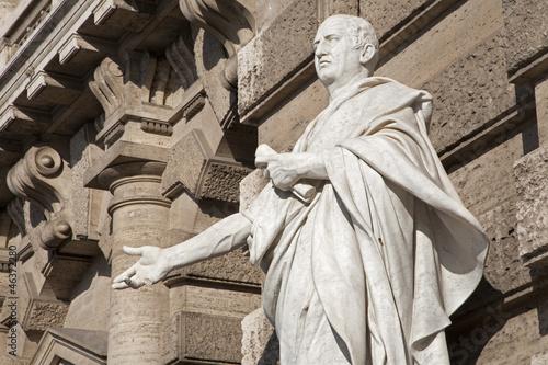 Leinwandbild Motiv Rome - statue of Cicero from facade of Palazzo di Giustizia