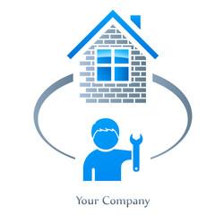Immobilien, Hausmeister -  Logo