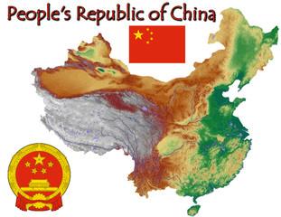 China Asia national emblem map symbol motto