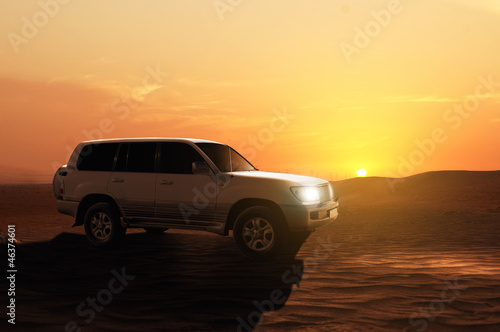 Offroadcar in the Desert