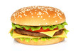Big hamburger on white background - 46374880