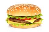 Fototapety Big hamburger on white background
