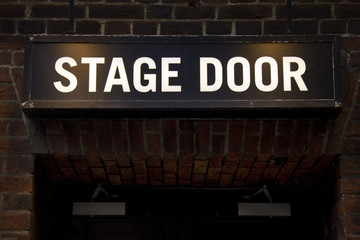 Stage door (room for text)