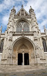 Brussels - Notre Dame du Sablon gothic church - south portal.