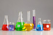Laboratory Glassware on Table