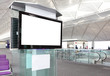 canvas print picture - LCD TV at airport