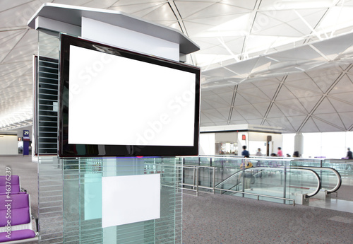 Plexiglas Luchthaven LCD TV at airport