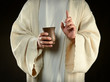 Jesus Holding Cup of Wine