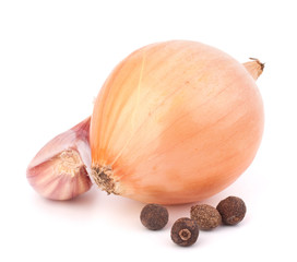 Onion and garlic clove