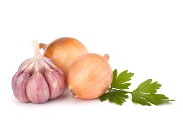 Onion and garlic clove