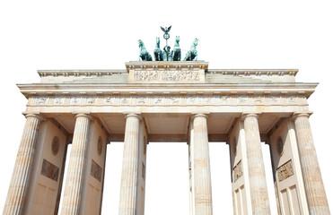 Brandenburg gate on white with clipping path