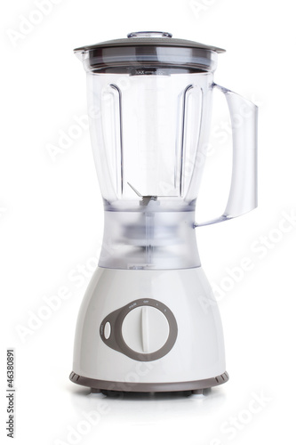 Electrical blender, kitchen equipment, isolated on white backgro