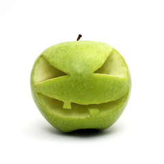Halloween green apple